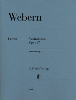 Anton Webern - Variations Opus 27 - Sheet Music - di-arezzo.co.uk