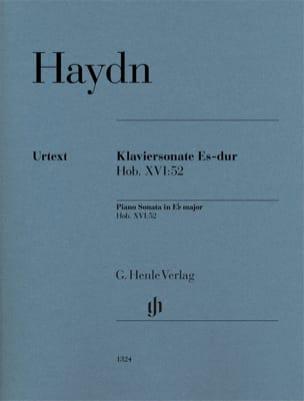 Joseph Haydn - Sonate pour piano en Mi bémol majeur Hob 16-52 - Partition - di-arezzo.fr