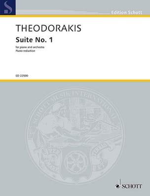 Mikis Theodorakis - Suite n° 1. 2 pianos - Partition - di-arezzo.fr