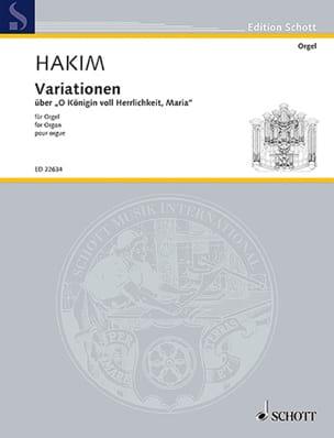 Naji Hakim - Variations sur O Königin voll Herrlichkeit, Maria - Partition - di-arezzo.fr