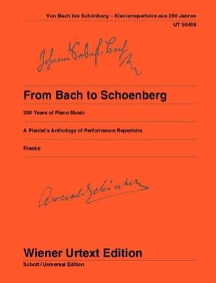 De Bach à Schoenberg - Partition - Piano - laflutedepan.com
