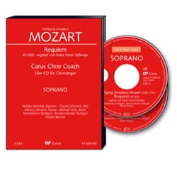 Requiem K 626. 2 CD Ténor CHOEUR MOZART Partition Chœur - laflutedepan