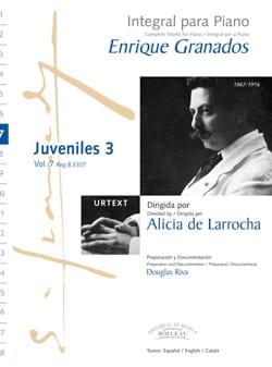 Enrique Granados - Juveniles Volume 3 - Partition - di-arezzo.fr
