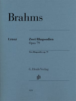 BRAHMS - 2 Rhapsodies op. 79 - Partition - di-arezzo.fr