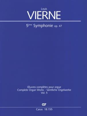 Symphonie n° 5 en la mineur op. 47 - Louis Vierne - laflutedepan.com