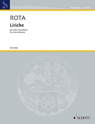 Liriche - Nino Rota - Partition - Mélodies - laflutedepan.com