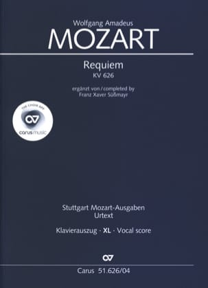 MOZART - Requiem Kv 626 (Grand Format) - Partition - di-arezzo.fr
