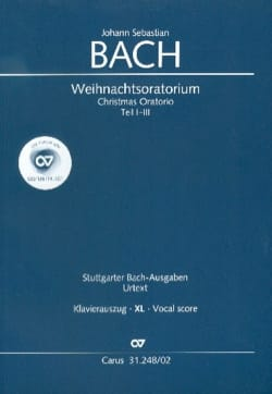 Weihnachtsoratorium Bwv 248 XL Format - BACH - laflutedepan.com