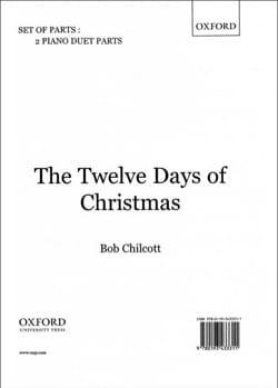 The 12 Days of Christmas. Matériel de Choeur. Piano 4 mains - laflutedepan.com