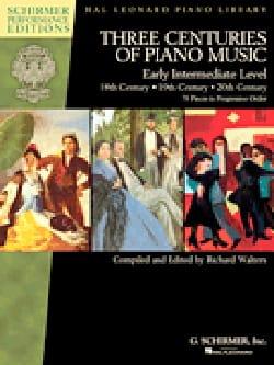 3 siècles de musique pour piano - Partition - laflutedepan.com