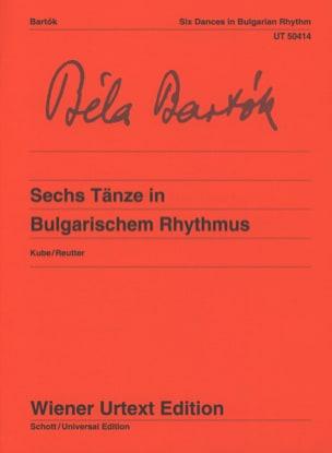 6 danses dans le rythme dit bulgare BARTOK Partition laflutedepan
