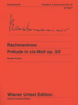 RACHMANINOV - Prelude in C sharp minor Opus 3-2 - Sheet Music - di-arezzo.co.uk