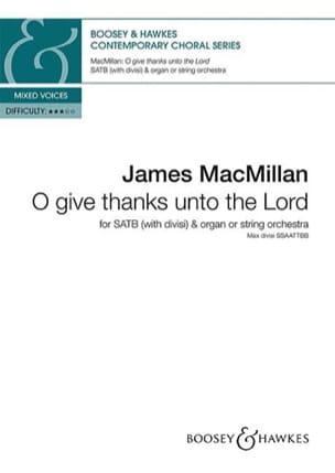 O give thanks unto the lord - James MacMillan - laflutedepan.com