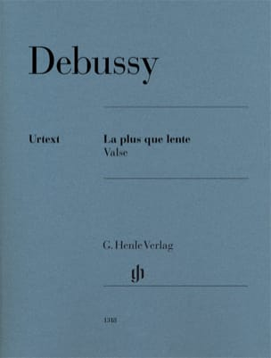 Claude Debussy - La plus que lente - Valse - Partition - di-arezzo.fr