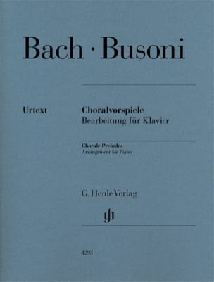 Bach Jean-Sébastien / Busoni Ferruccio - Préludes de chorals - Partition - di-arezzo.fr