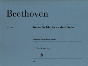 BEETHOVEN - Works for piano with 4 hands - Sheet Music - di-arezzo.com
