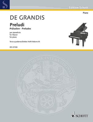 Préludes. Volume 3 Grandis Renato De Partition Piano - laflutedepan