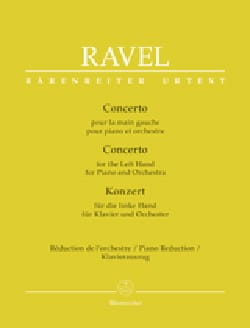 Maurice Ravel - Concerto for the left hand. 2 pianos - Sheet Music - di-arezzo.co.uk
