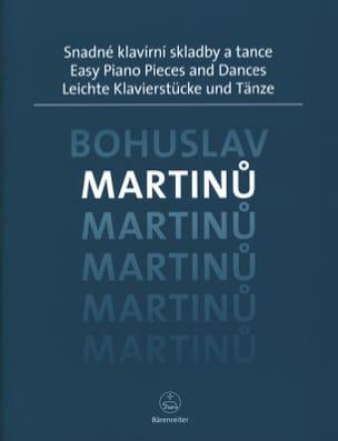 Easy Piano Pieces and Dances MARTINU Partition Piano - laflutedepan