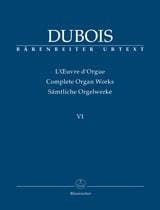 Théodore Dubois - Oeuvre d'orgue Volume 6 - Partition - di-arezzo.fr