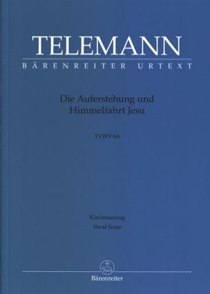 TELEMANN - Die Auferstehung und Himmelfahrt Jesu Tvwv 6:6 - Partition - di-arezzo.fr