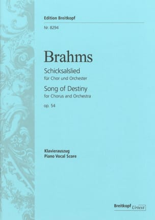 BRAHMS - Schicksalslied Opus 54 - Sheet Music - di-arezzo.co.uk