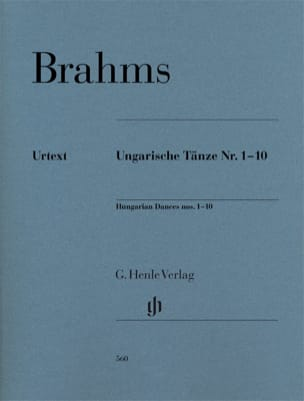 BRAHMS - Hungarian Dance No. 1 to 10. Piano - Sheet Music - di-arezzo.com
