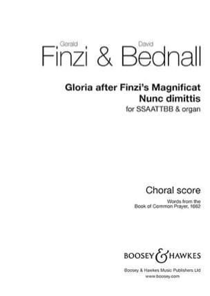 Gerald Finzi & David Bednall - Gloria / Nunc dimittis - Partition - di-arezzo.fr
