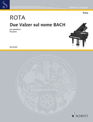 Nino Rota - 2 waltzes on the name of BACH - Sheet Music - di-arezzo.co.uk