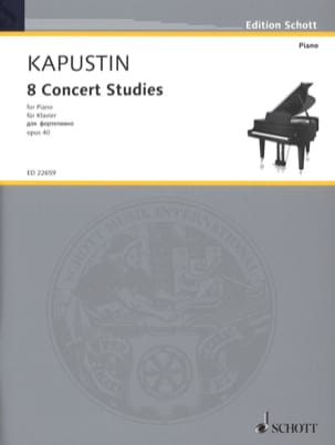 Nikolai Kapustin - 8 Etudes de Concert opus 40 - Partition - di-arezzo.fr
