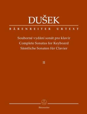 Frantisek Xaver Dussek - Sonates pour piano. Volume 2 - Partition - di-arezzo.fr