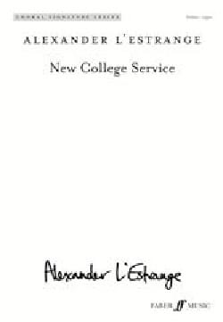 Alexander L'Estrange - New College Service. SA - Partition - di-arezzo.fr