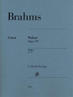 BRAHMS - Valses Opus 39 - Sheet Music - di-arezzo.co.uk