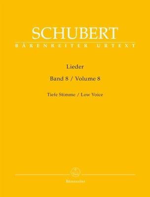 SCHUBERT - Lieder Volume 8 - Voix Grave - Partition - di-arezzo.fr