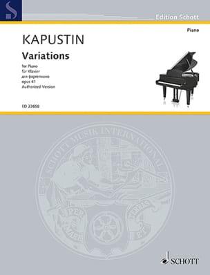 Variations pour piano Opus 41 Nikolai Kapustin Partition laflutedepan