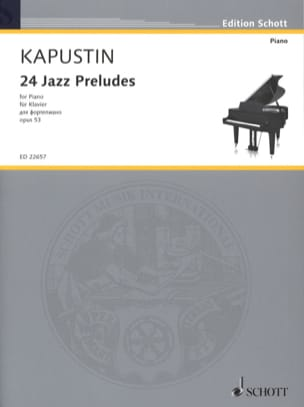 24 Jazz Preludes, Opus 53 Nikolai Kapustin Partition laflutedepan