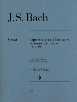 BACH - Capriccio sopra la lontananza del suo fratello dilettissimo BWV 992 - Partition - di-arezzo.fr