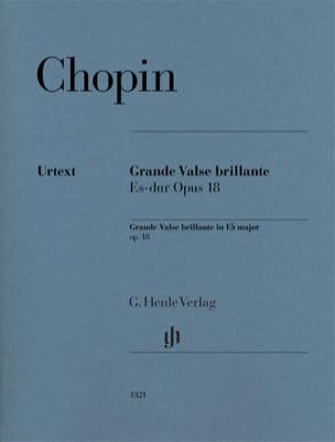 Frédéric Chopin - Grande Valse brillante en Mi bémol majeur opus 18 - Partition - di-arezzo.fr