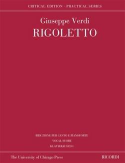 Giuseppe Verdi - Rigoletto - Edition Critique - Partition - di-arezzo.fr