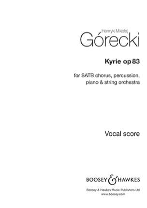 Henryk Mikolaj Gorecki - Kyrie, opus 83 - Partition - di-arezzo.fr