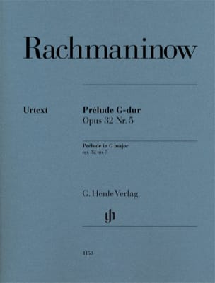 Sergei Rachmaninov - Prélude en Sol Majeur, Opus 32 n° 5 - Partition - di-arezzo.fr