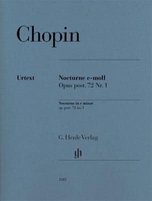 Nocturne en mi mineur, opus posthume 72 n° 1 - Edition Urtext - laflutedepan.com