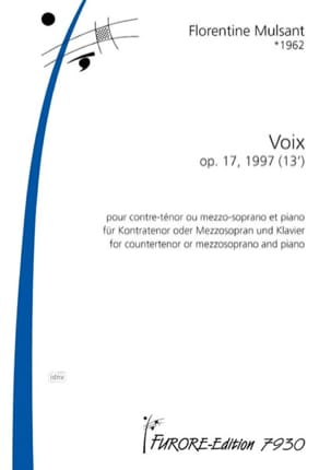 Florentine Mulsant - Voix opus 17 - Partition - di-arezzo.fr