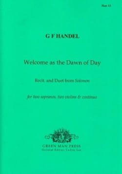 Welcome as the Dawn of day. - HAENDEL - Partition - laflutedepan.com