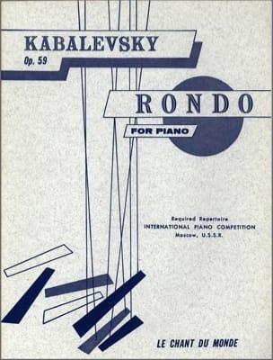 Rondo Op. 59 - Dimitri Kabalevsky - Partition - laflutedepan.com