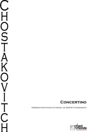 Concertino op. 94. 4 mains CHOSTAKOVITCH Partition laflutedepan