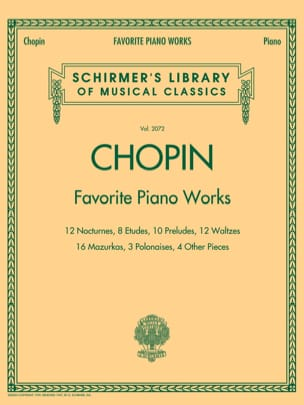 Favorite Piano Works - Frédéric Chopin - Partition - laflutedepan.com