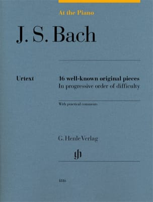 Jean-Sébastien Bach - Bach, At The Piano - Edition Urtext - Partition - di-arezzo.fr