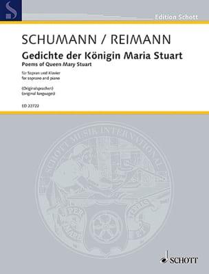 Schumann Robert / Reimann Aribert - Gedichte der Königin Maria Stuart op. 135 - Partition - di-arezzo.fr