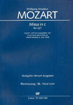 MOZART - Great Mass In C Minor K 427 XL Format - Sheet Music - di-arezzo.com
